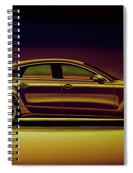 Audi Rs7 2013 Mixed Media Spiral Notebook