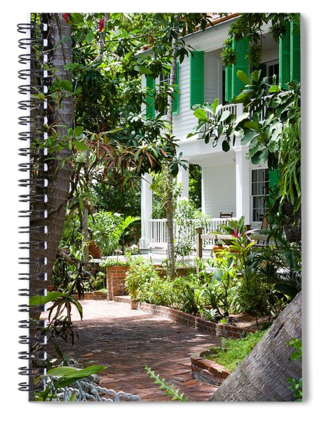 Spiral Notebook featuring the photograph Audubon House Entranceway by Ed Gleichman