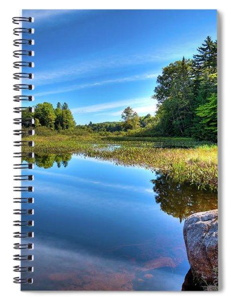 August At The Green Bridge Spiral Notebook
