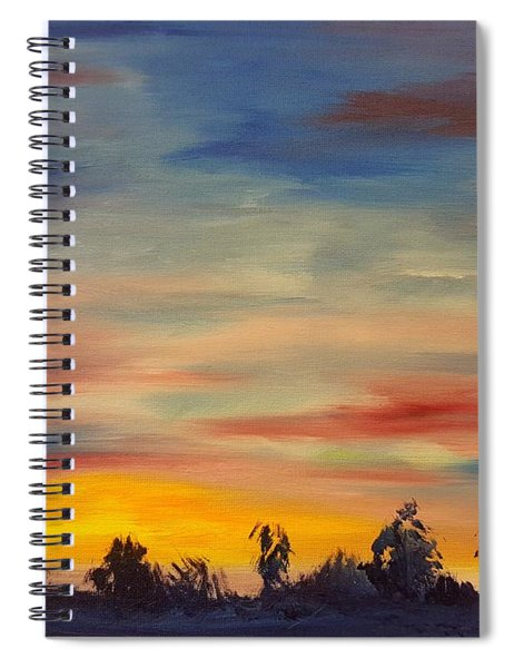 August Sunset In Sw Montana Spiral Notebook