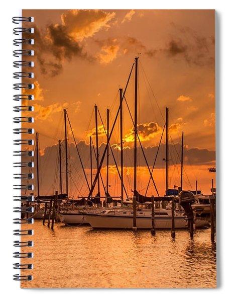 August Sunset Spiral Notebook