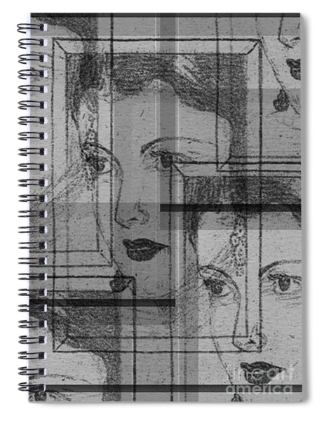 Aunt Edie Black And White Print Spiral Notebook