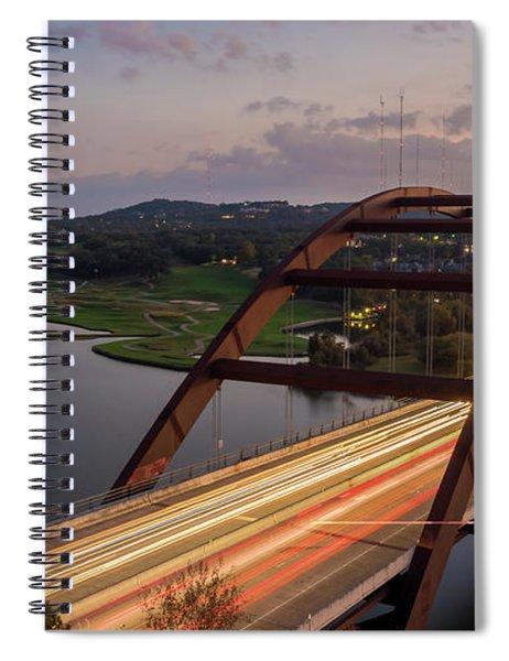 Austin 360 Bridge At Night Spiral Notebook