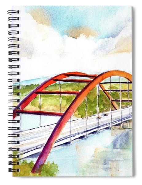 Austin 360 Bridge - Pennybacker Spiral Notebook