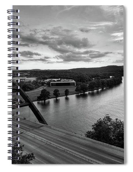 Austin 360 Pennybacker Bridge Sunset Spiral Notebook