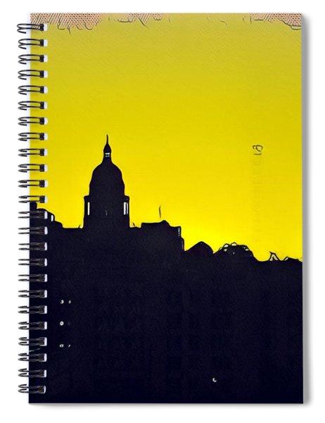 Austin Capital At Sunrise Spiral Notebook