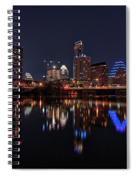 Austin Skyline At Night Spiral Notebook