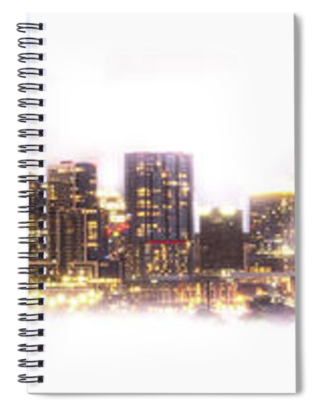 Austin Texas Skyline With White Blackground  Spiral Notebook
