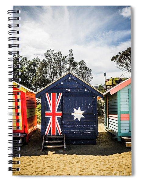 Australia Bathing Boxes Spiral Notebook