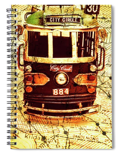 Australia Travel Tram Map Spiral Notebook