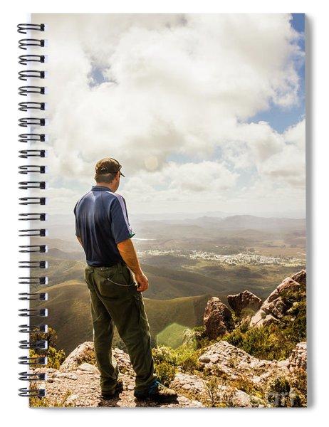 Australian Explorer Sightseeing Mt Zeehan Spiral Notebook