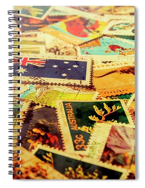 Australian Postal Background Spiral Notebook