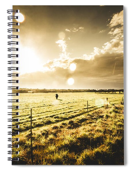 Australian Rural Dirt Road  Spiral Notebook