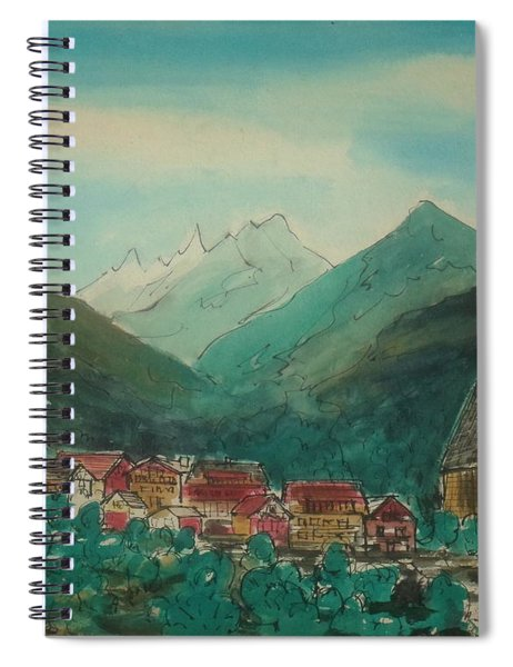 Austrian Village On Road To Innsbruck From Venice Spiral Notebook