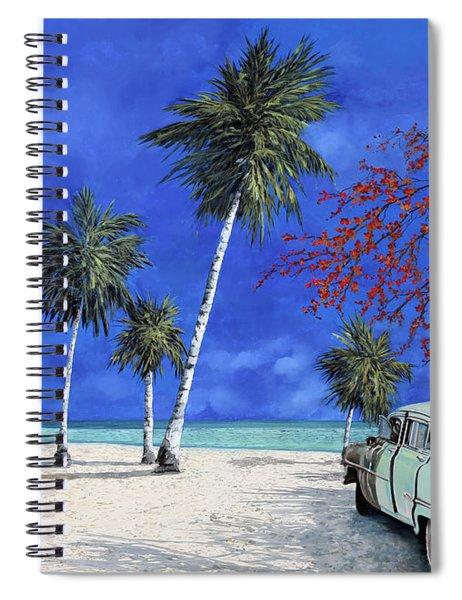 Auto Sulla Spiaggia Spiral Notebook