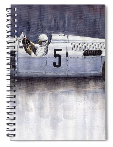 Auto Union 1936 Type C Spiral Notebook