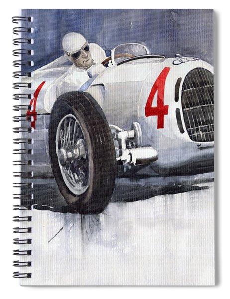 Auto Union C Type 1937 Monaco Gp Hans Stuck Spiral Notebook