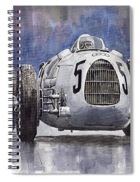 Auto-union Type C 1936 Spiral Notebook
