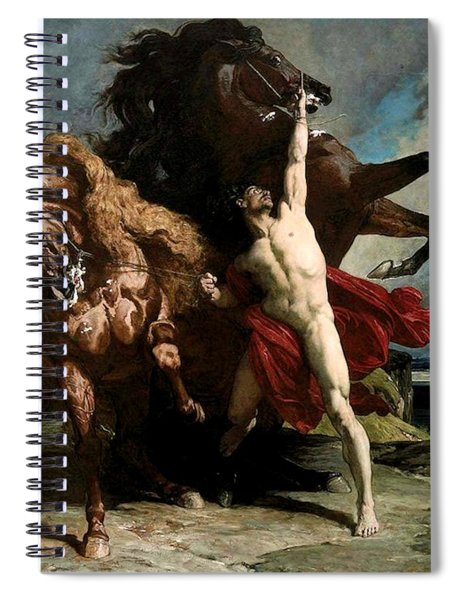 Automedon With The Horses Of Achilles Spiral Notebook