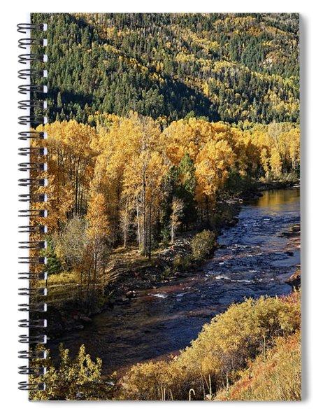 Autumn Along The River I Spiral Notebook