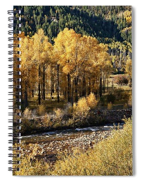 Autumn Along The River IIi Spiral Notebook