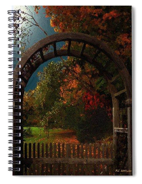 Autumn Archway Spiral Notebook