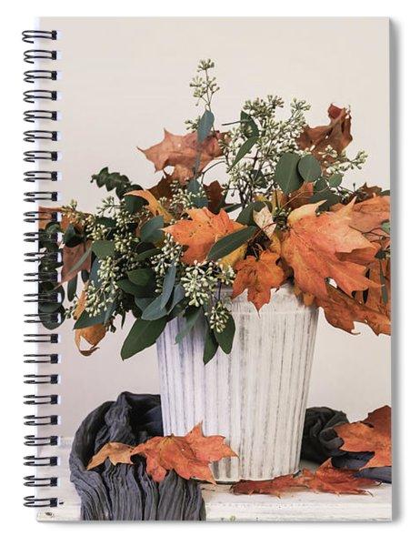 Autumn Arrangement Spiral Notebook