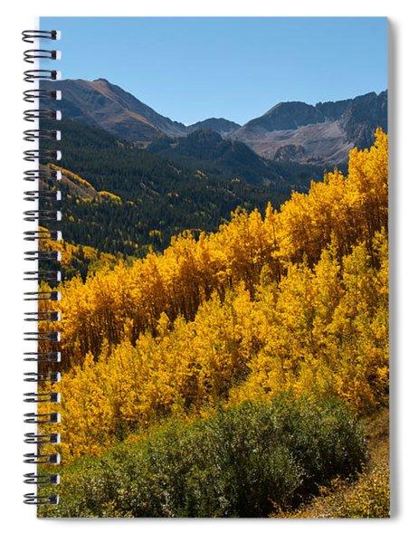 Autumn Aspen Near Castle Creek Spiral Notebook