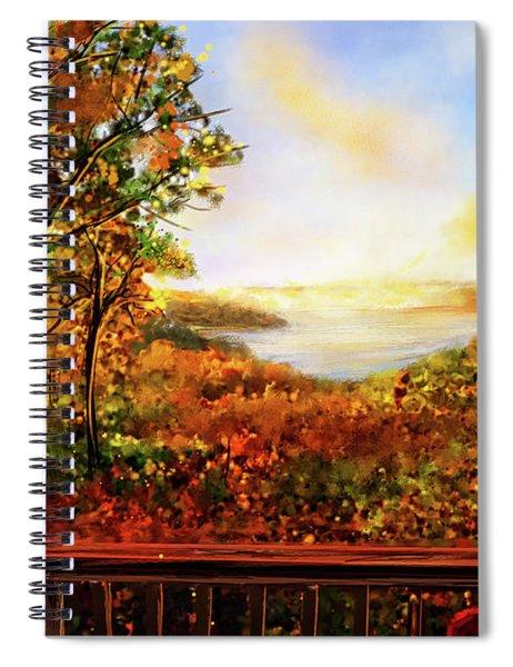 Autumn At Beaver Lake -beaver Lake Art Spiral Notebook