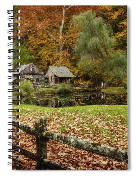 Autumn At Cuttalossa Farm V Spiral Notebook