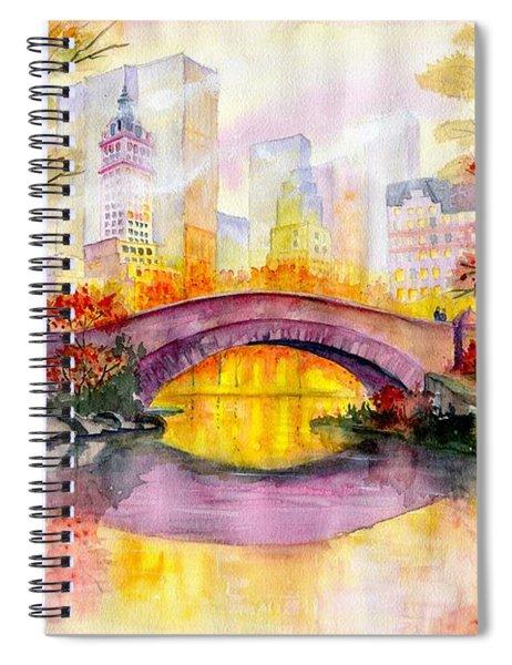 Autumn At Gapstow Bridge Central Park Spiral Notebook