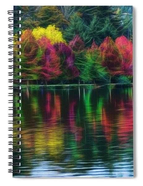 Autumn At Green Lake Seattle Spiral Notebook
