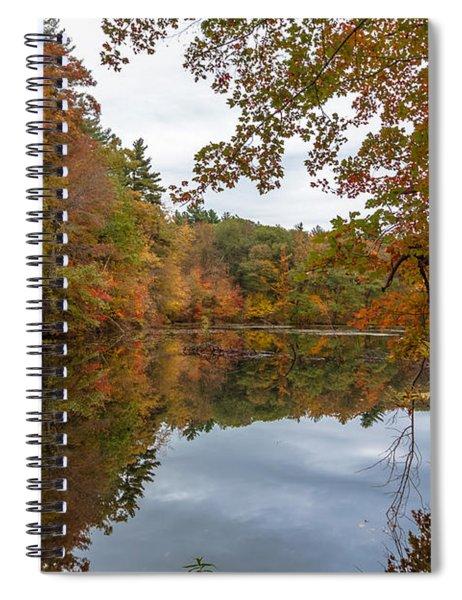 Autumn At Hillside Pond Spiral Notebook