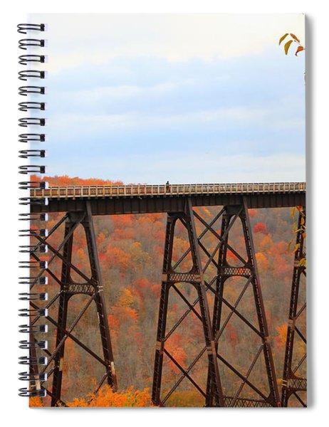 Autumn At Kinzua Bridge Spiral Notebook