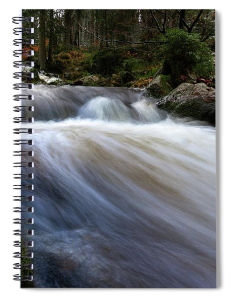 Autumn At The Bode, Harz Spiral Notebook
