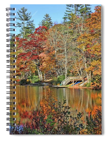 Autumn At The Lake 2 Spiral Notebook