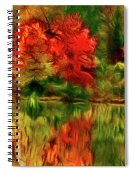 Autumn At The Lake-artistic Spiral Notebook