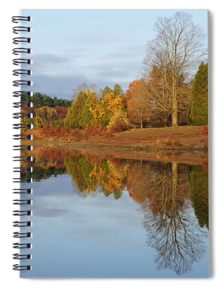 Autumn At The Old Stone Church Spiral Notebook