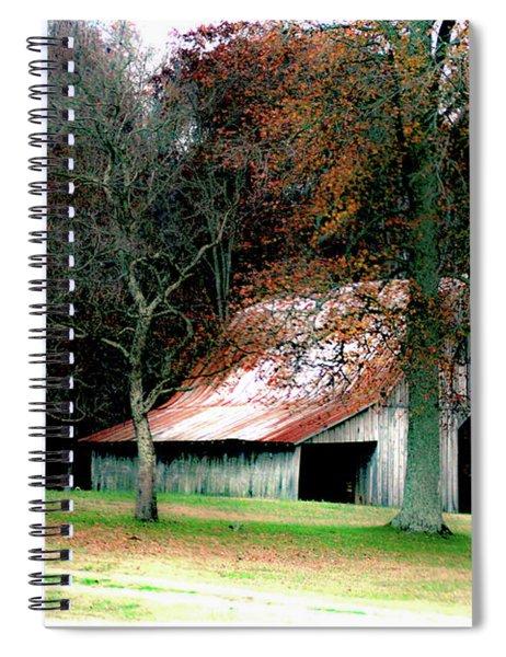 Autumn Barn In Alabama Spiral Notebook