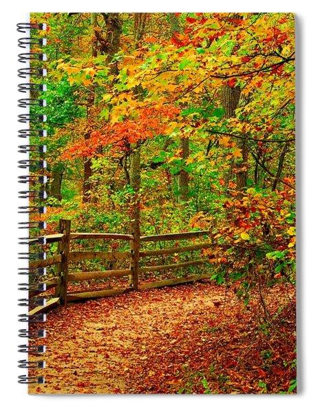 Autumn Bend - Allaire State Park Spiral Notebook