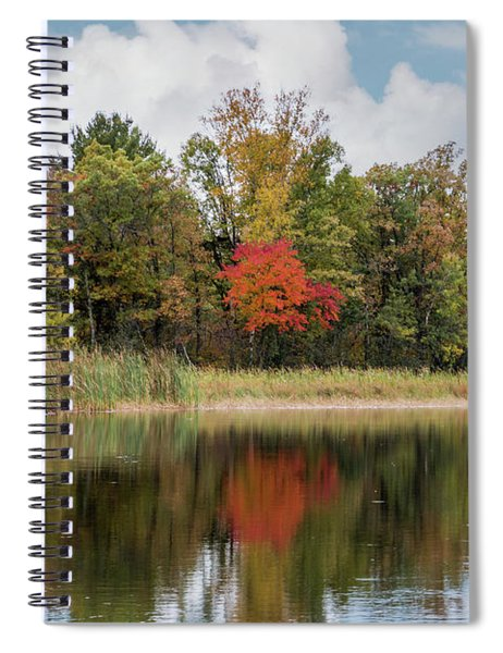 Spiral Notebook featuring the photograph Autumn Blue Heron by Patti Deters
