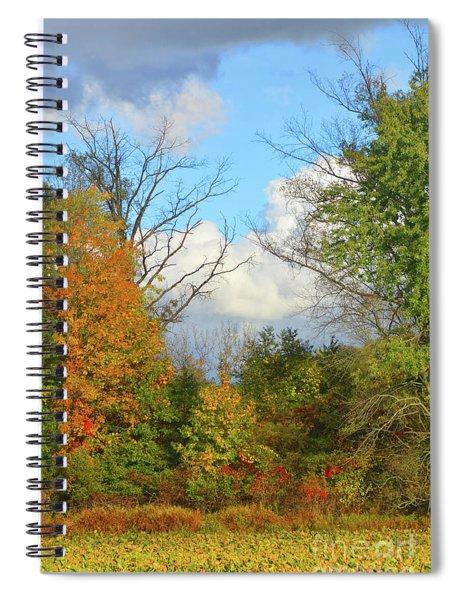 Autumn Breeze Nature Art Spiral Notebook