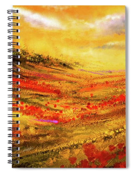 Autumn Burst - Autumn Foliage Colorful Art Spiral Notebook
