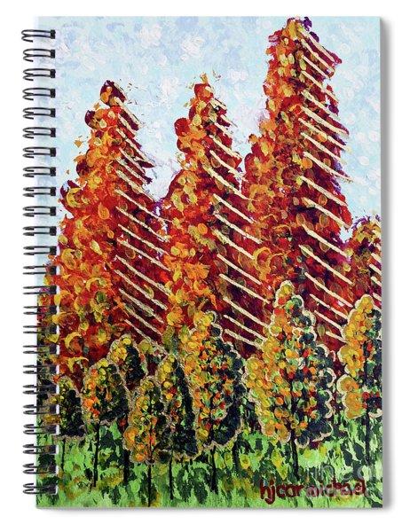 Autumn Christmas Spiral Notebook