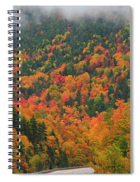 Autumn Clouds On Crawford Notch Road Spiral Notebook