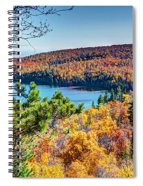 Autumn Colors Overlooking Lax Lake Tettegouche State Park II Spiral Notebook