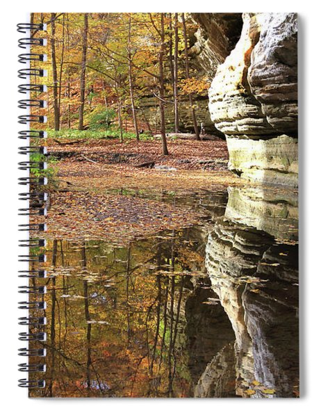 Autumn Comes To Illinois Canyon  Spiral Notebook