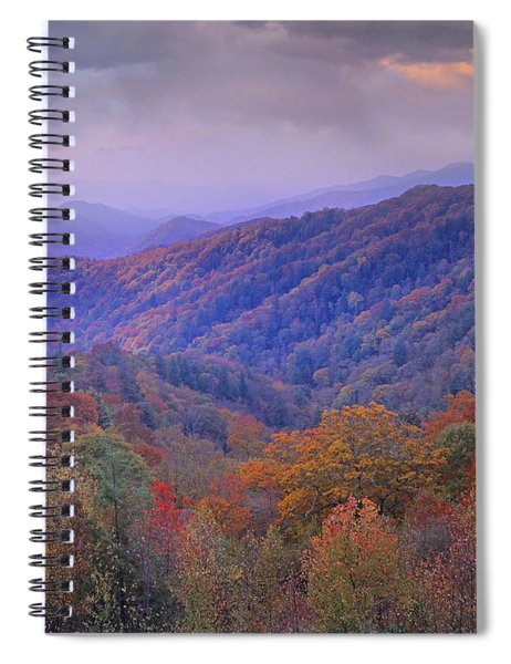 Autumn Deciduous Forest Great Smoky Spiral Notebook