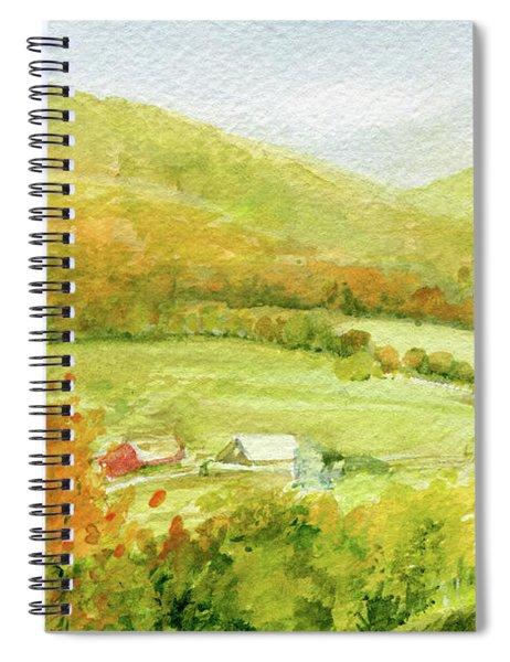 Autumn Farm In Vermont Spiral Notebook