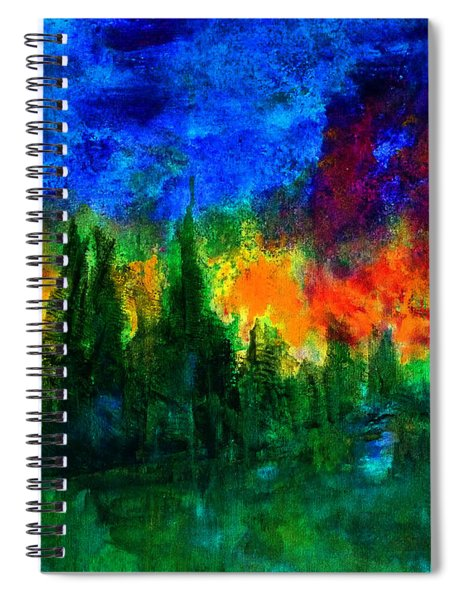 Autumn Fires Spiral Notebook
